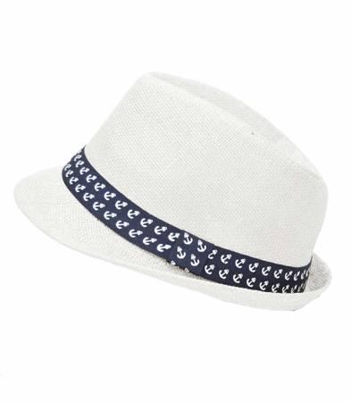 Chłopięcy kapelusz Panama kotwice