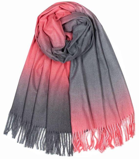 Cieniowany szal szalik chusta OMBRE