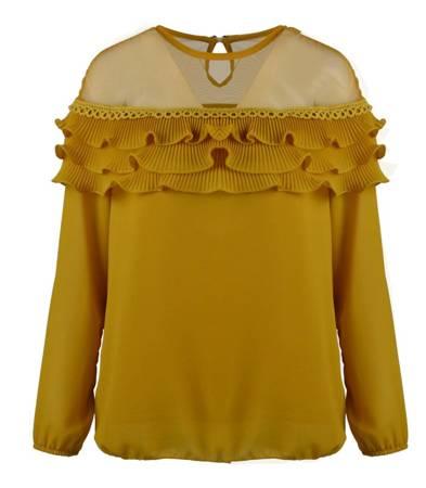 Cudna bluzka z baskinką GLAMOUR