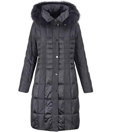 Długi elegancki płaszcz pikowanie kratka