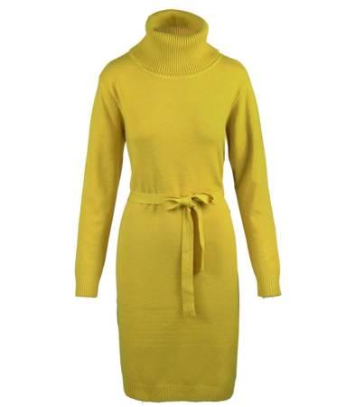 Elegancka sukienka kashmeerowa z Golfem