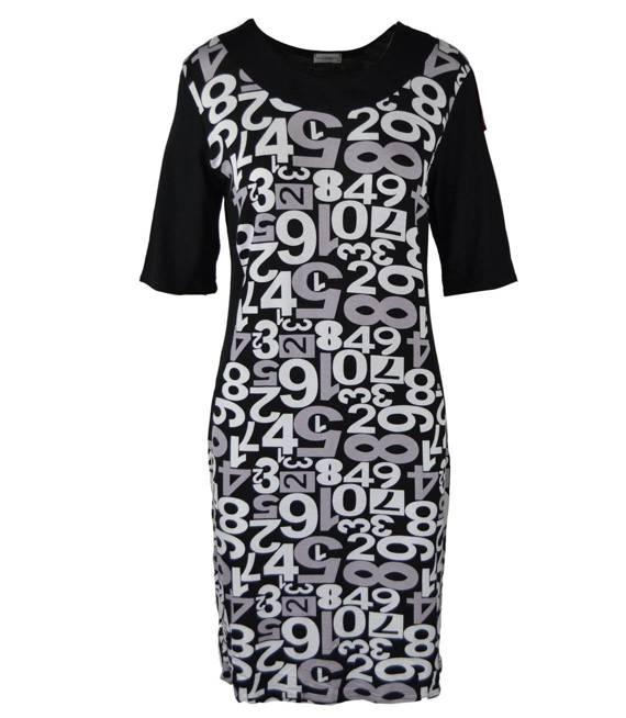 Fajna kobieca sukienka tunika CYFRY