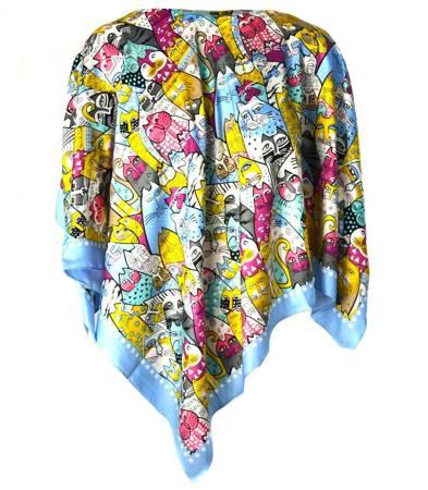 KOTY delikatna kolorowa chusta apaszka