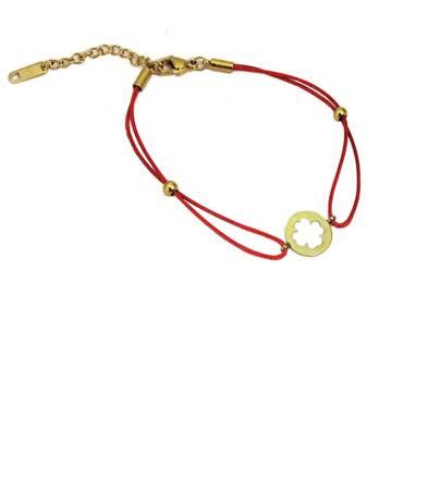 Koniczynka w pełni czerwona bransoletka