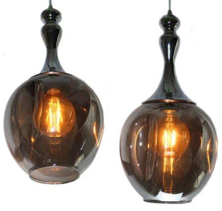 LAMPA SUFITOWA Premium W KOLORZE SREBRA I BRĄZU