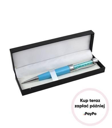 Piękny długopis z kryształkami PREZENT