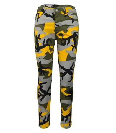 Super spodnie moro rurki high waist