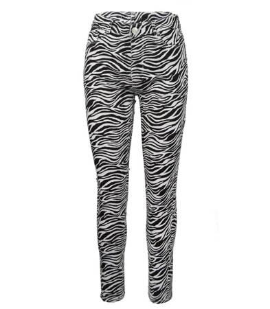 Super spodnie rurki zwierzęce wysoki stan